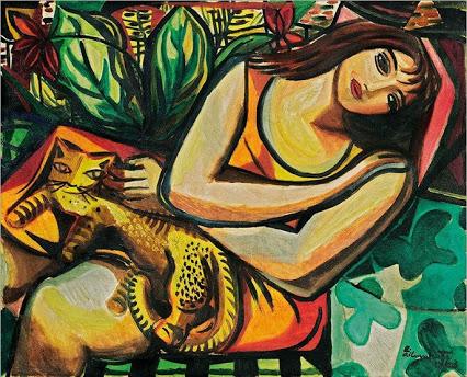 Mulher com Gato